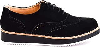 Zapatos Casual Mujer con Cordones brogueados Plataforma