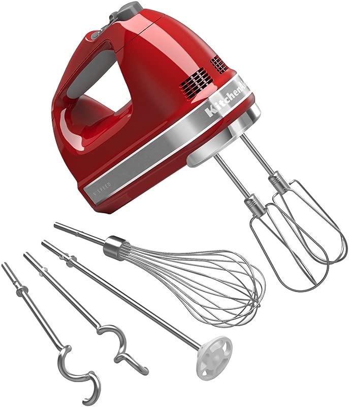 KitchenAid KHM926ER Empire Red 9 Speed Hand Mixer