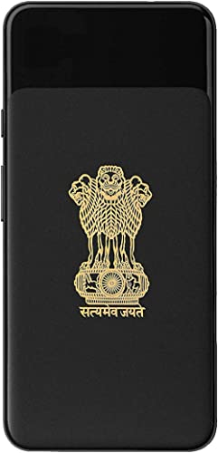 Socart Satyamev Jayate 24K Gold Metal 3D Stickers for Mobile, Laptop, Computer, Refrigerator, Home Door, Notebook, Di...