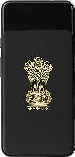 Socart Satyamev Jayate 24K Gold Metal 3D Stickers for Mobile, Laptop, Computer, Refrigerator, Home Door, Notebook, Diary, ...