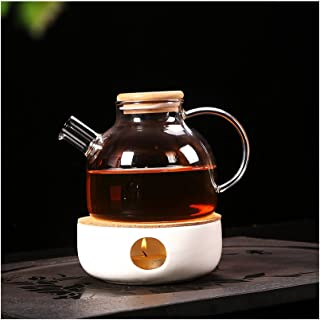 Cosy-YcY ceramiczny podgrzewacz do czajniczek, podgrzewacz do herbaty podstawa do szklanego dzbanka, porcelanowy podgrzewa...