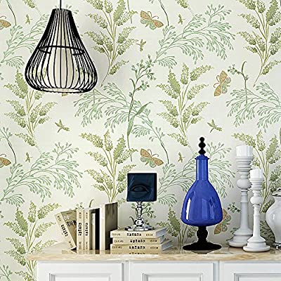 Blooming Wall MH1404 Non-Woven Vintage Flower Wallpaper Wallpaper Wall Mural for Livingroom Bedroom Kitchen Bathroom, 20.8 In32.8 Ft=57 Sq.ft,Multicolor