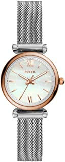 Fossil - Womens Carlie Mini Three-Hand Stainless Steel Watch - ES4614