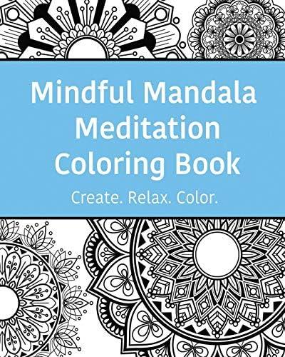 Mindful Mandala Meditation Coloring Book High quality beautifully designed mandala coloring product image