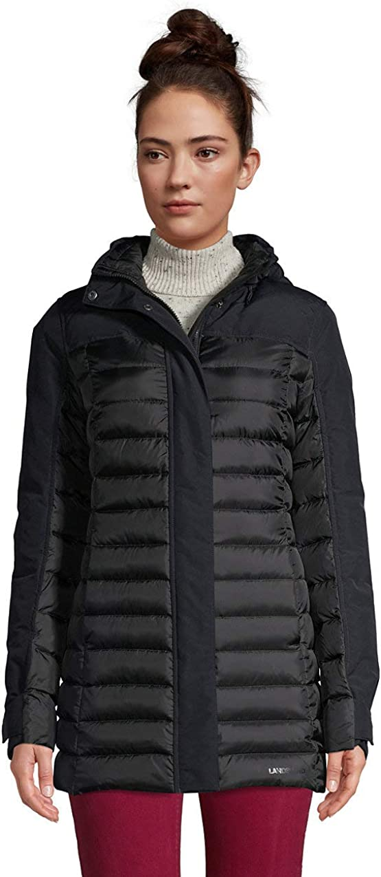 Lands' End Max 41% OFF Women's Squall Down Winter Coat with Hood Max 42% OFF Insulated
