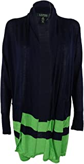 Womens Linen Blend Open-Front Cardigan Sweater