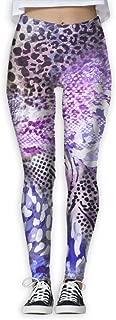 XMKWI Zebra Snake Cheetah Skin Women's Power Flex Running Yoga Pants Workout Tights Leggings Trouser