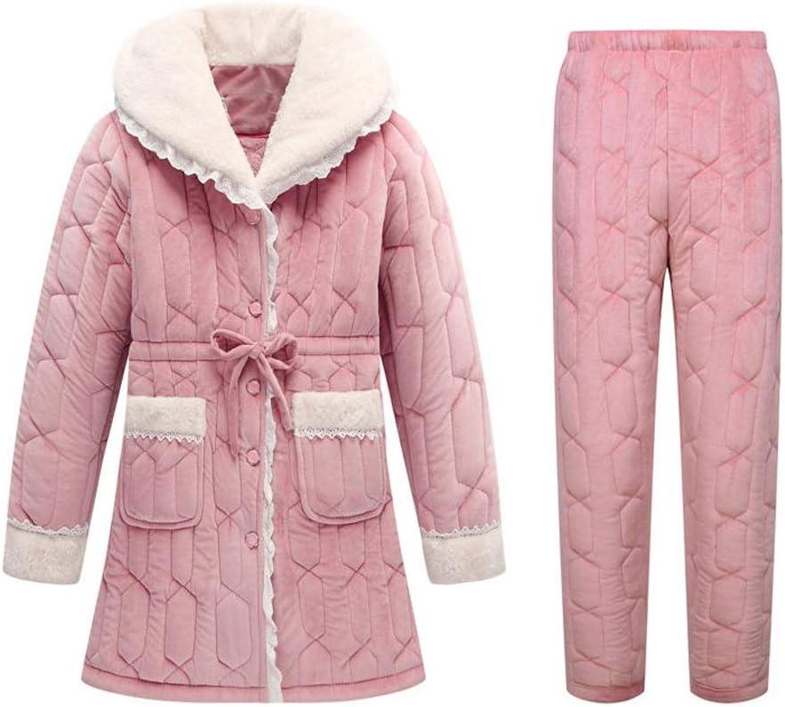 UXZDX Winter Pyjamas Women Long-Sleeve Pajamas Qui Large discharge sale National uniform free shipping Thick Flannel