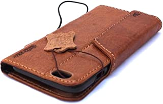 Genuine Italy Oiled Leather Case for Iphone 6s Plus + Book Wallet Handmade Business Luxury New ! Band 6+ S
