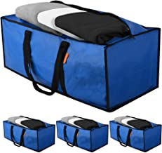 Heavy Duty Extra Large Storage Bags Moving Bags Totes 4 Pack   XL Moving Bag Strong Handles Zippers Reusable Water Resista...