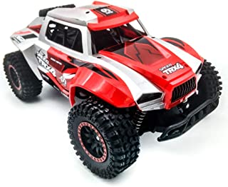 RC Hobby Toys Military Truck Off-Road Sport Cars Gifts for Kids and Adults (Blue) (Red)