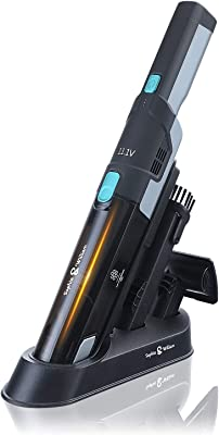 Sophia & William Cordless Handheld Vacuum Cleaner Rechargeable, Portable Small Handheld Vacuum Cleaner Lightweight with Powerful Suction and Charging Base
