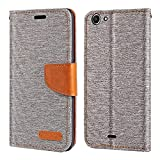 Wiko Pulp Fab 4G Case, Oxford Leather Wallet Case with Soft