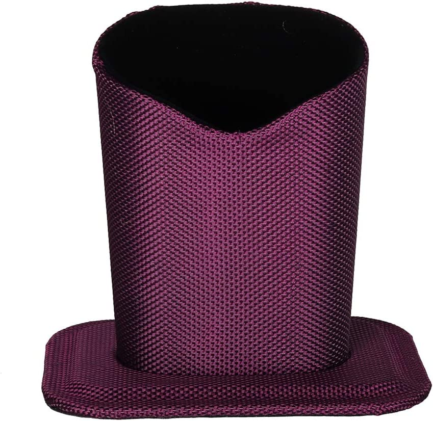 Molshine Desktop Upright Eyeglasses Spectacles Glasses Holder Stand Case-Soft Plush Lining (Purple)