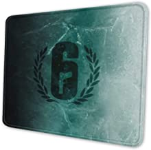Rainbow Six Siege Gaming Mouse Pad Keyboards Mouse Mat Non-Slip Rubber Game Mousepad with Stitched Edge Wrist Rests Multif...