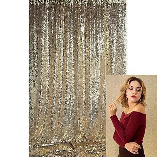 Kate Dekoration Hintergrund Champagner Gold Hintergrund Fotografie Hochzeit Party Dekoration Pailletten Flash Hochzeit Fotokabine 4x7ft/1.25x2.2m Ins Photo Shooting Background