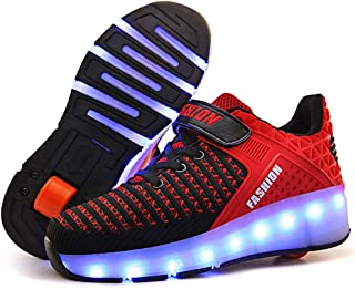 643b3326 MNVOA Automática Ruedas Ajustables LED Zapatillas con Luces Ruedas Color Deporte  Zapatos de Skate Roller Deportivos