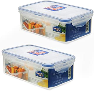 Lock & Lock Airtight Rectangular Food Storage Container 33.81-oz / 4.23-cup (Pack of 2)