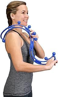 Backjoy Trigger Point Relief pieghevole terapia lombare bastone da massaggio con collo del piede, blu, taglia unica