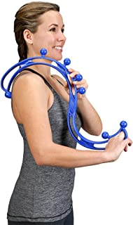 BackJoy Trigger Point Relief Back Massager, Handheld Massage Stick, Collapsible, Relieves Pain and Stress for Muscles in Back, Neck, Feet, Body