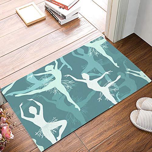 QLIYT Fußmatten Ballett-Tänzer-Fußmatten Für Eingangs-Weisen-Badezimmer-Zusätze Stellten Schmutz-Rückstand-Schlamm-Trapper-Stiefel-Schuhe EIN