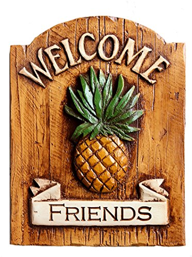 Pineapple Welcome Friends Sign