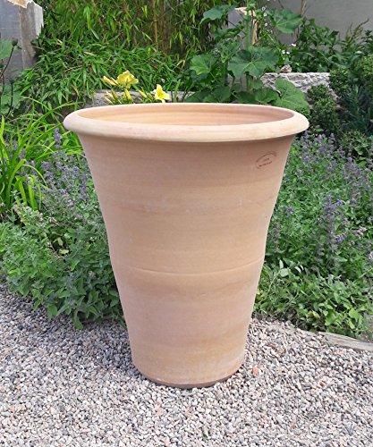 Kreta-keramiek mediterrane terracotta bloempot, handgemaakt en vorstbestendig, voor buiten, plantenbak 50-90 cm, hibiscus H: 50 cm