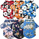 6 Pieces Pet Printed Shirts Hawaiian Dog T-Shirts Beach Coconut Tree Print Pet Clothes Breathable Pet Summer Shirt for Medium to Large Dogs (X-Large)