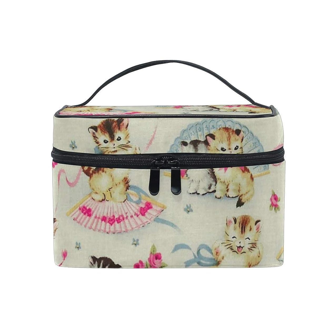 貨物ハロウィン頼むメイクポーチ 可愛い 猫 化粧ポーチ 化粧箱 バニティポーチ コスメポーチ 化粧品 収納 雑貨 小物入れ 女性 超軽量 機能的 大容量
