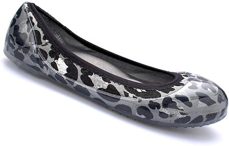 Ja Ja Ja -vie Comty Jelly Knit Flats, grå Leopard  snabb frakt och bästa service