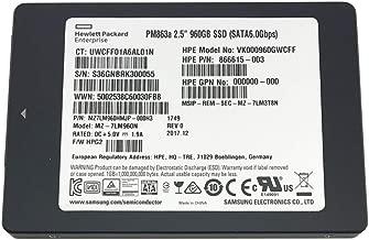 HP/Samsung PM863a (MZ-7LM960N) 960GB 2.5-inch 7mm SATA III MLC (6.0Gb/s) Internal Solid State Drive (SSD) HPE P/N: 866615-003 / HP Model VK000960GWCFF- 5 Years Warranty