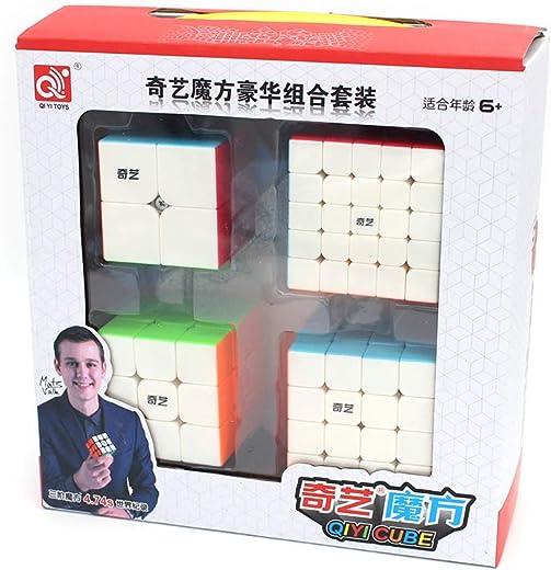 Cubelelo QiYi 2x2 3x3 4x4 & 5x5 Stickerless Combo Set Speedcubing Bundle Cubes Magic Puzzle 1