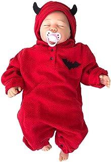Cover Cover Halloween Baby Kostüm Babykleidung Neugeborene Strampler Mädchen Junge Cartoon Halloween Kürbis Teufel Overall mit Kapuzen Spielanzug