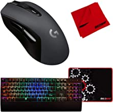 Logitech G603 Lightspeed Wireless Gaming Mouse + Deco Gear Keyboard and Mouse Pad Bundle