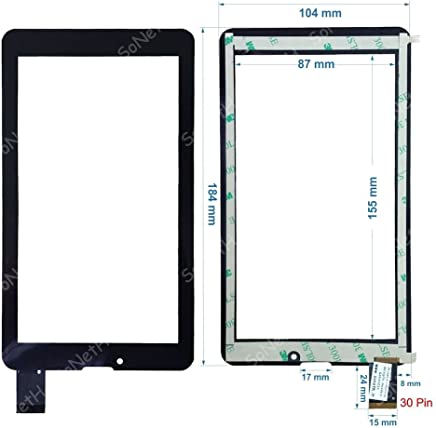 "New Touch screen Panel Digitizer For 7/"" Mediacom M-MPI7B3G SmartPad i7 3G"