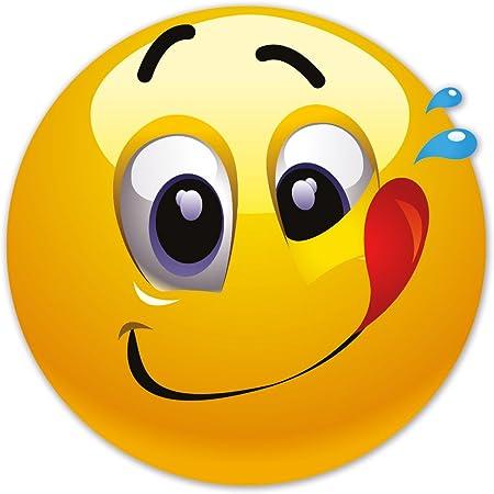 Smiley Fun Aufkleber Motiv 14 20 Cm Selbstklebend Glänzend Für Auto Motorrad Fahrrad Boot Oder Caravan Auto