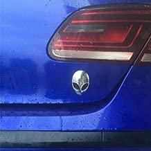 Jili Online 3D Car Full Metal Alien Head Logo Sticker Badge Emblem Car Decals Creative