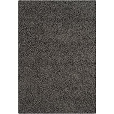 Safavieh Athens Shag Collection SGA119C Dark Grey Area Rug (6' x 9')