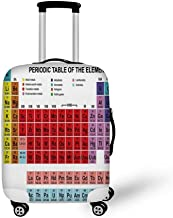 Periodic Table Stylish Luggage Cover,Kids Children Educational Science Chemistry for School Students Teachers Art for Luggage,L(26.3''W x 30.7''H)