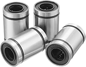 uxcell 4pcs LM10UU 10x19x29mm Double Side Rubber Seal Linear Motion Ball Bearing Bushing