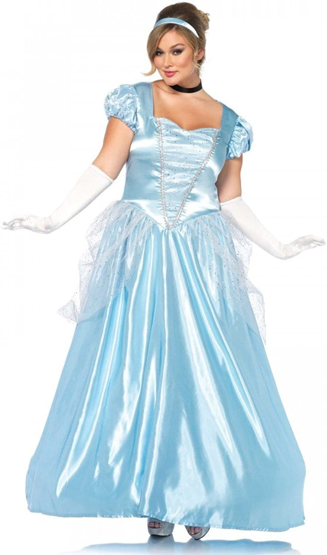 Shoperama Classic Cinderella Plus Size Costume by Leg Avenue Fairytale Princess Movie