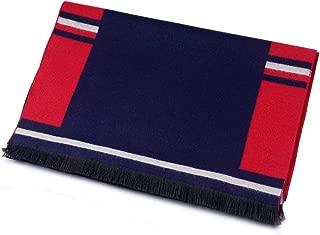 Scarf Imitation Cashmere Men Autumn Winter New Stitching Business Simple Leisure bib Cold Warm` TuanTuan (Color : Navy)