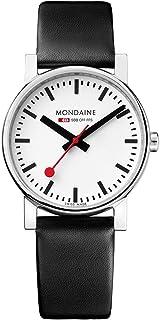 Mondaine - Evo2 - Reloj de Cuero Negro para Hombre y Mujer, A658.30300.11SBB, 35 MM