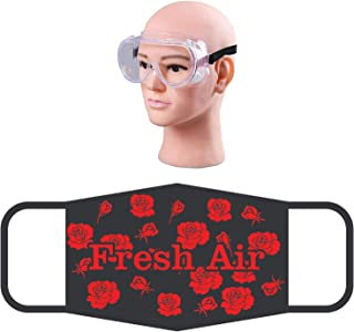 HACER Combo of 1 Piece Goggle ORSF20 Reusable Cotton Face Mask Washable Breathable Protective Stylish Nose Mouth Cover for Men & Women (5 PCS)