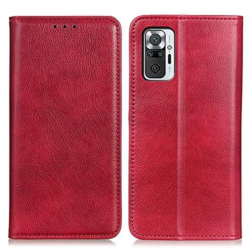 Teléfono Flip Funda Flip Funda for Xiaomi Redmi Note 10 Pro Caja de la billetera, monedero de cuero de PU multifuncional PULSE CUBIERTA DE CUBIERTA CASA DE CASA IDH &CREDITORICIDAD Tapa trasera del te