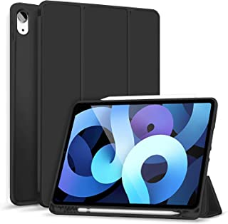Robustrion Smart Flexible Trifold Flip Stand Case Cover for iPad Air 4 10.9 inch 2020 - Black