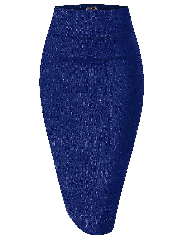 HyBrid & Company レディーズ H&C 女性用伸縮性のあるウエストのオフィスペンシルスカート