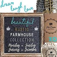 Felt Creative Home Goods 素朴な古板文字ボードセット グレイ