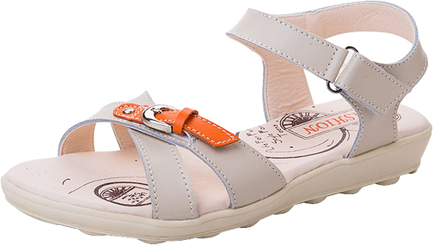 New summer leather flat sandals