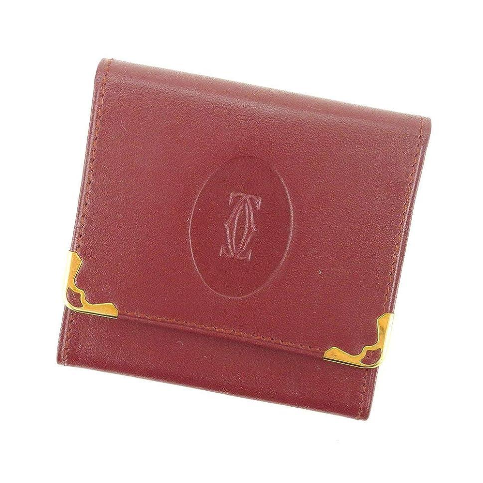 キルト治すベギン(カルティエ) Cartier コインケース 小銭入れ ボルドー マストライン レディース メンズ S955